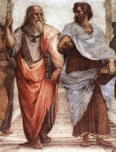 Plato & Aristotle in The School of Athens by Raphael